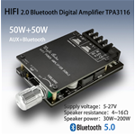 AMPLIFICATORE AUDIO 50+50 WATT BLUETOOTH